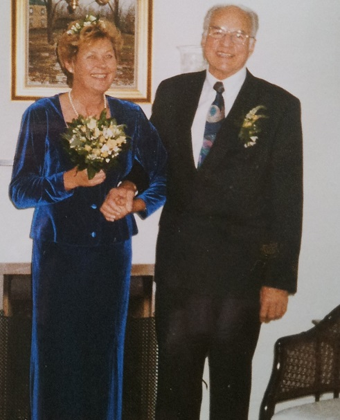 Efter mange års samliv giftede Helge Schou og Jytte Munck sig i 1998.