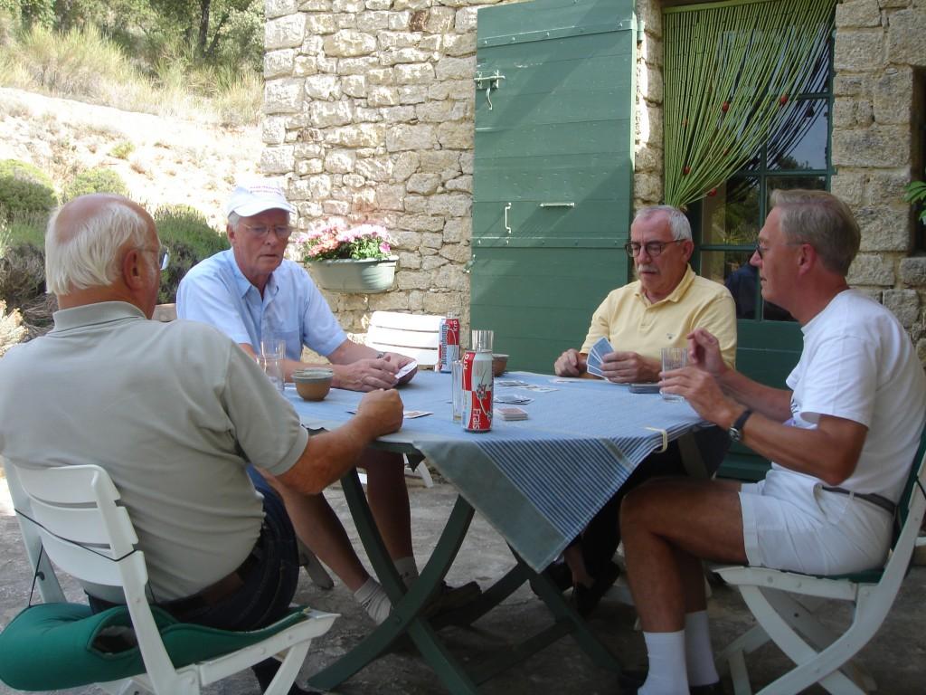 Hr er Uffe sammen med sin l'hombreklub i Frankrig, hvor de spillede dagen lang i Provence-solen.
